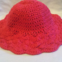 Pink Brimmed Shell Hat