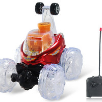 RD312 Rechargeable Remote Control Car RC Vehicles with LED Light & Music Effects (Red)