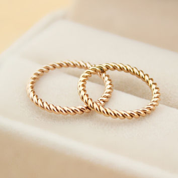 Womens Rose Gold Ring Tail Rings Gift-128