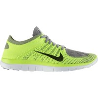 Nike Men's Free Flyknit 4.0 Running Shoe - Volt/Grey | DICK'S Sporting Goods