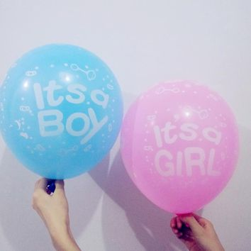 10pcs It's A Boy Balloon It's A Girl Ballons Kids Happy Birthday Gift Baby Shower Gender Reveal Home Party Decoration Supplies