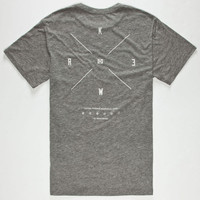 Kr3w Quattro Mens Pocket T-Shirt Heather Grey  In Sizes