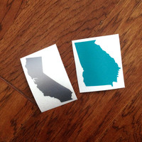 Any State Vinyl Decal Sticker - Georgia, Texas, California, North Carolina, etc - DIY - home is where the heart is - Home State Car Decal