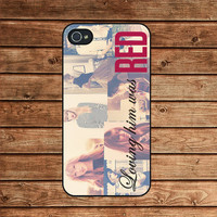 Iphone 4 Case,Iphone 4s Case,Iphone 4 Cover--Taylor Swift Loving Him Was Red,In Plastic Or Silicone Case