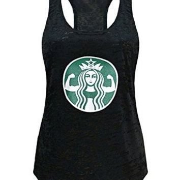 Women's Starbucks Parody Burnout Tank Top