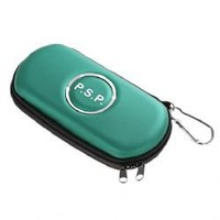 Air Form Hard Carry Case with Mountaineering Key Buckles for PSP 1000/2000/3000 (Green)