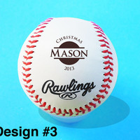 Custom Personalized Engraved Baseball, Christmas Gift, Groomsmen, Ring Bearer, Birthday, Keepsake, Baby Announcement
