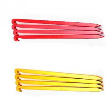 4pcs Aluminum Outdoor Square Camping Equipment Tent Nail Tent Peg Ground Nail Tent Peg