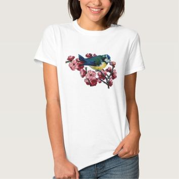 Bluebird and Cherry Blossoms Shirts