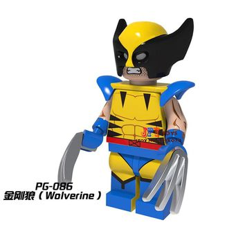 Single Sale star wars superhero marvel Logan movie Wolverine building blocks model bricks toys for children brinquedos menino