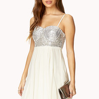 Darling Sequined Combo Dress