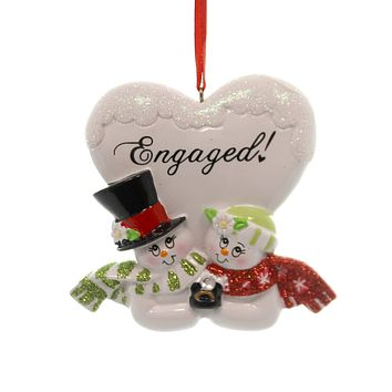 Personalized Ornament Engaged Personalized Ornament