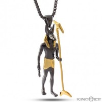 King Ice Two Tone Anubis Necklace