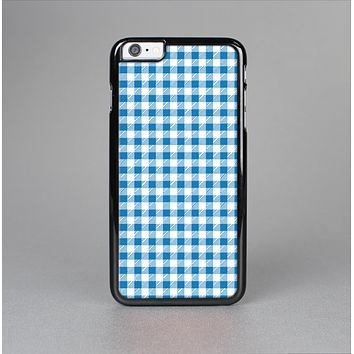 The Blue and White Woven Plaid Pattern Skin-Sert for the Apple iPhone 6 Skin-Sert Case