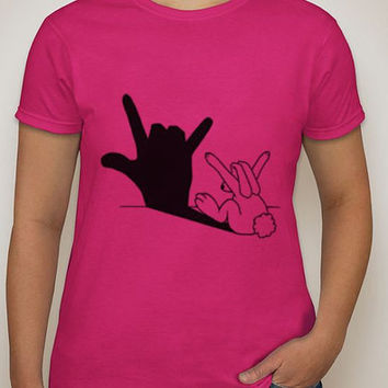 I love you shirt, Sign language, love, valentine, gifts, gifts for her, gifts for him, pick any color shirt, custom made, ASL, asl, deaf, hi