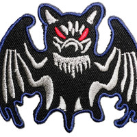 Vampire Bat Halloween Sew Iron On Embroidered Patch