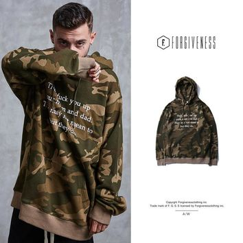 Round-neck Long Sleeve Hoodies Men's Fashion Camouflage Hats [10895415875]