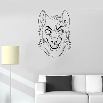 Wall Decal Animal Fox Sly Head Mimicry Face Vinyl Sticker Unique Gift (ed677)