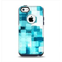 The Vibrant Blue HD Blocks Apple iPhone 5c Otterbox Commuter Case Skin Set
