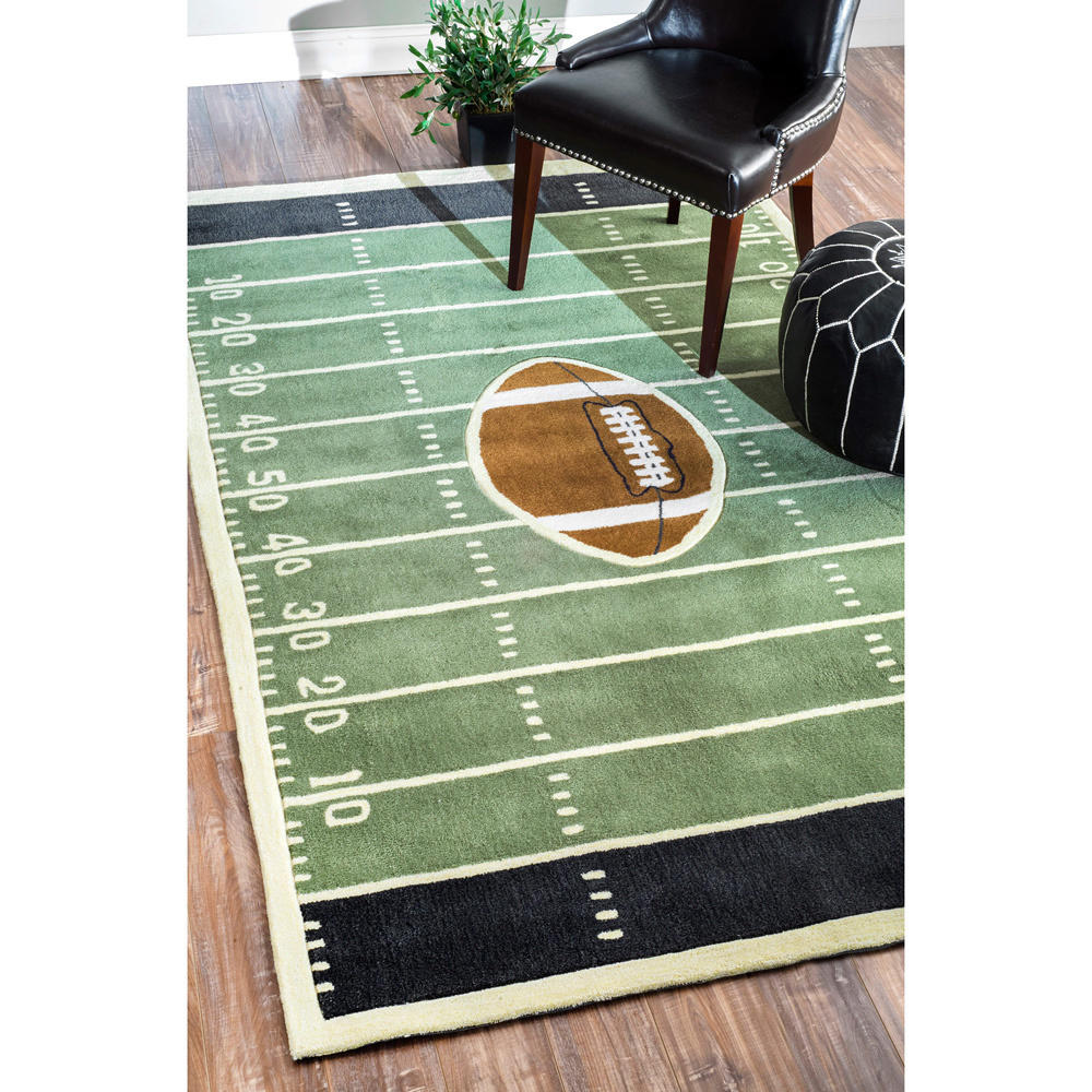 NuLOOM Handmade Football Field Green Rug From Overstock