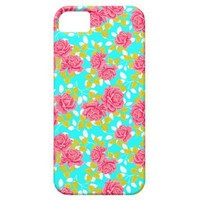 Girly Pink Roses Spring Floral iPhone 5 Case from Zazzle.com
