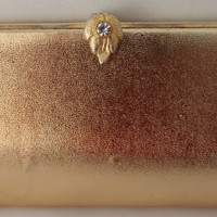 Vintage Purse gold metallic clutch mid by purrfectstitchers