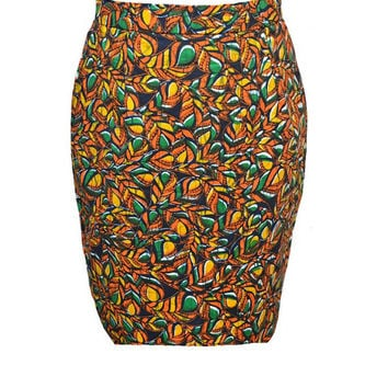 Simati Skirt - Plus Size African Print Skirt