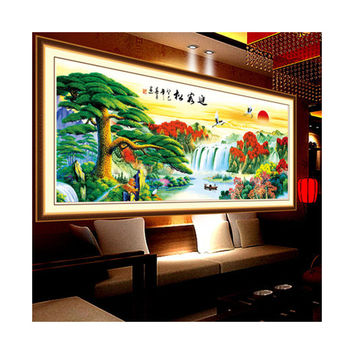 5D Diamond Painting Magic Cube Diamond Living Room the Pine Greeting Guests Lucky Strike Cross Stitch Diamond Paste Diamond Stitch Living Room