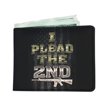 'I Plead the 2nd' (Amendment) Men's Wallet