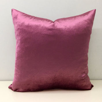 Pink Velvet Pillow Cover,Rose Pink Pillow,Pink Pillow,Velvet Pillow,Throw Pillows,Pink Velvet Couch Cushion Covers,Pink Velvet Throw Pillows