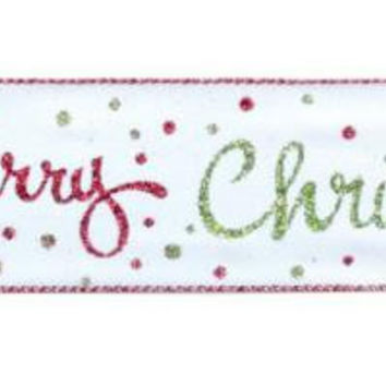 "Christmas Ribbon - 2.5 ""  X 10 Yards"