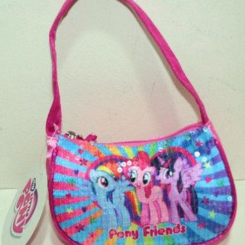 Licensed cool New My Little Pony Rainbow Dash Pinkie Pie Twilight Sparkle Girls Handbag Purse