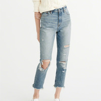 Womens High-Rise Girlfriend Jeans | Womens Bottoms | Abercrombie.com