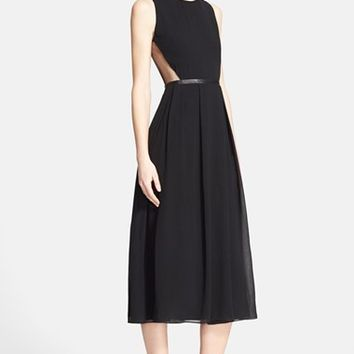 Women's Burberry London 'Lisbeth' Silk Fit & Flare Dress,