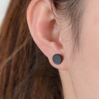 Black Silver Color 3  western triangle round flash stud earrings for women gifts jewelry