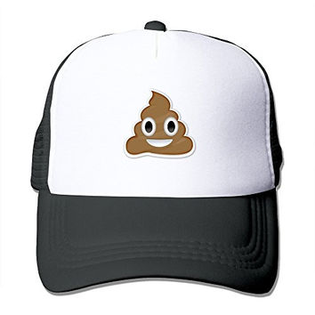 Good Gift Cute Poop Smiley Face Adjustable Baseball Ball Cap Hat - Black