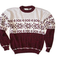 Vintage 80s/90s Acrylic Nordic Ugly Ski / Christmas Sweater Men's Size Large (L)