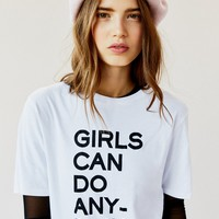 Free People Girls Can Do Anything Tee