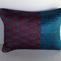 "Blue Decorative Pillow CoveCushion Cover 12""x16"" Purple Decorative Pillow Cover"