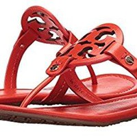 Tory Burch Miller Leather Logo Sandal