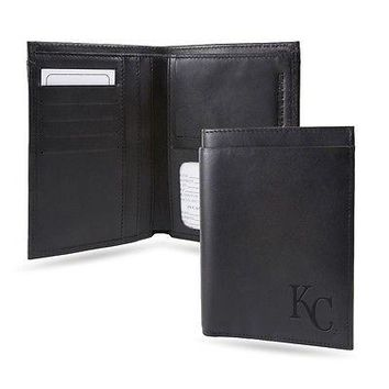 Kansas City Royals RFID Blocking Traveling Passport Leather Wallet