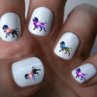 Galaxy Lion Nail Art Decals Nail Stickers