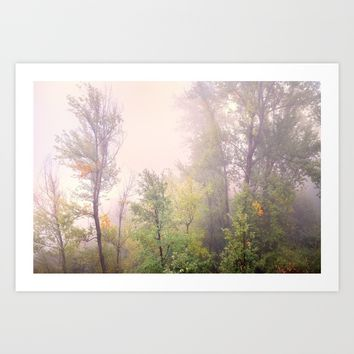 """Misty forest"". Autumn dreams Art Print by Guido Montañés"