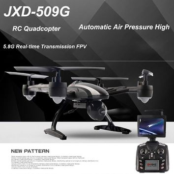 Original JIN XING DA JXD 509G RC Quadcopter Drone 5.8G FPV 2.0MP HD Camera Automatic Air Pressure High Headless Mode RC Drones