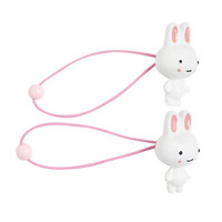 Blackheart White Plastic Bunny Hair Ties