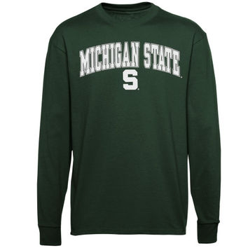 Michigan State Spartans Youth Midsize Long Sleeve T-Shirt – Green - http://www.shareasale.com/m-pr.cfm?merchantID=7124&userID=1042934&productID=547697313 / Michigan State Spartans