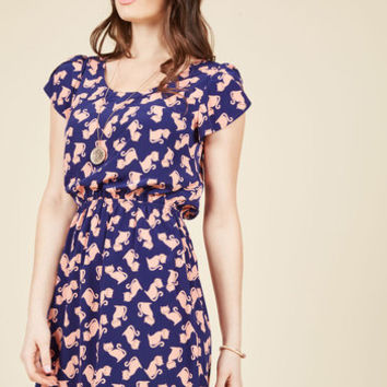 Oh My Gosh A-Line Dress in Felines | Mod Retro Vintage Dresses | ModCloth.com