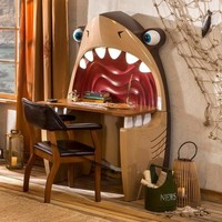 Brown Pirate Shark Desk