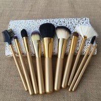 10 Pcs Luxury Wool Makeup Brush Sets [9647071823]