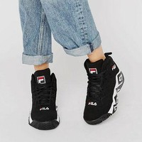 Fila Mb High Sneakers In Black at asos.com